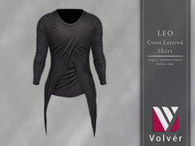 //Volver// Leo Cross Layered T-shirt - Fortess Gray