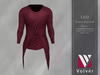 //Volver// Leo Cross Layered T-shirt - Merlot