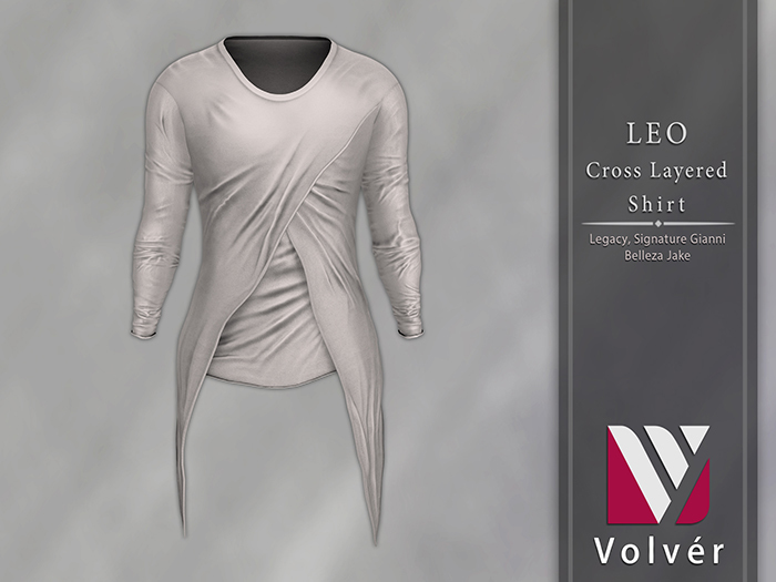 //Volver// Leo Cross Layered T-shirt - White