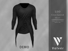 //Volver// Leo Cross Layered T-shirt - DEMO