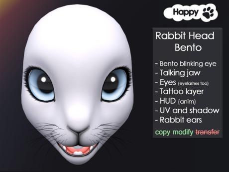 Happy Paw - Rabbit head bento