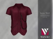 //Volver// Jason Shirt - Merlot [ADD ME]
