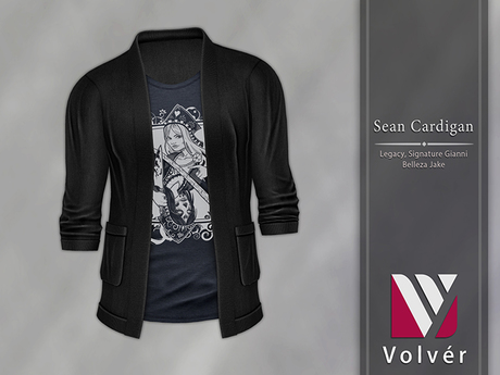 //Volver// Sean Cardigan - Black [ADD ME]
