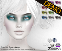 Zibska ~ Sascha Eyemakeup Demos [lelutka/genus/laq/catwa/omega/universal tattoo/BOM layer]