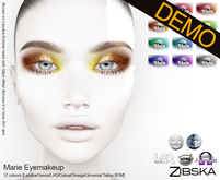 Zibska ~ Marie Eyemakeup Demos [lelutka/genus/laq/catwa/omega/universal tattoo/BOM layer]