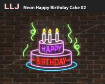 LLJ Neon Happy Birthday Cake 02