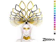 Zibska ~ Olek Color Change Headpiece and Collar