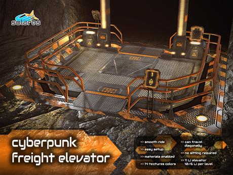 solares >> Cyberpunk Freight Elevator