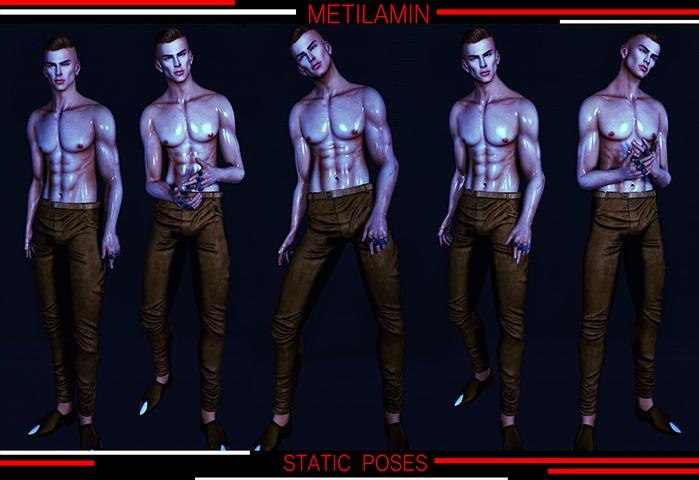 "BENTO""METILAMIN"".Male Poses .static set.49"