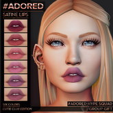 #ADORED - satine lips - cutie club edition - GIFT