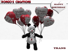 BMC557 - SUCH A CUTE GIFT FOR SOMEONE'S BIRTHDAY. PANDA WITH 12 HAPPY BIRTHDAY BALLOONS.
