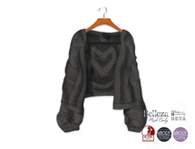 {amiable}Mesh Cable Knit Oversized Cardigan08