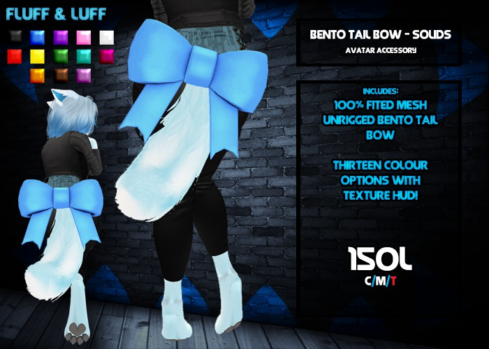 F&L - Bento Tail Bow - Solids