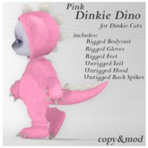 *SZ* Dinkie Dino Outfit / Pink