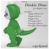 *SZ* Dinkie Dino Outfit / Green