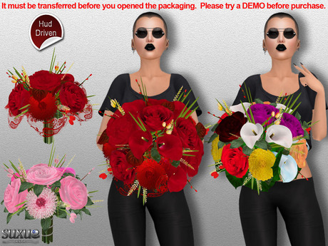 [SuXue Mesh] FATPACK Mia Bouquet, with Hud & 2 AO, Resizable