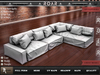 {::ROAR::} Full Perm Mesh Cloth Fluffy Soft Sectional Sofa