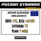 "SSC ""Shoutcast"" ""Europe"" (192, 44100, 75 Listeners) 7 Day(s)"