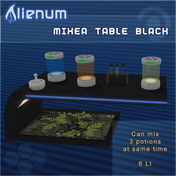 Alienum Mixer Table Black