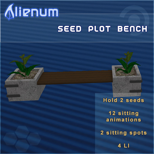 Alienum Seed Plot Bench