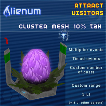 Alienum Cluster - Increase Land Traffic - Mesh 10% tax