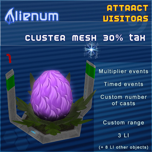Alienum Cluster - Increase Land Traffic - Mesh 30% tax
