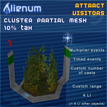 Alienum Cluster - Increase Land Traffic - Partial Mesh 10% tax