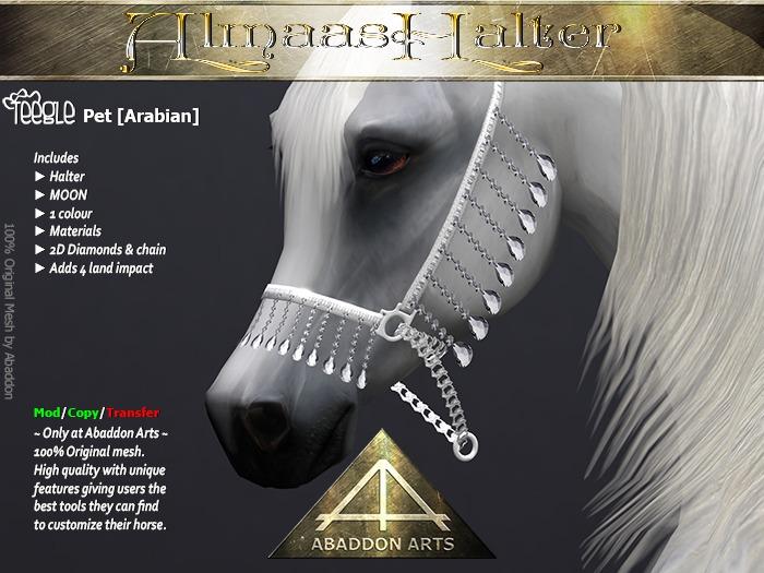 ABADDON ARTS - Almaas Halter MOON [Teeglepet Arabian]