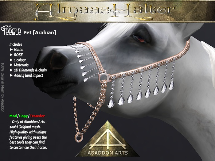 ABADDON ARTS - Almaas Halter ROSE [Teeglepet Arabian]