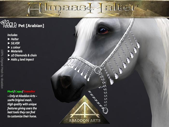 ABADDON ARTS - Almaas Halter SILVER [Teeglepet Arabian]
