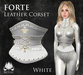 [ROSAL] FORTE Sculpted Leather Corset - White
