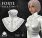 [ROSAL] FORTE Sculpted Neck Corset - White