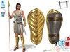 Dae Obj FBX Men's Roman Soldier Arm Shield Slink Male, Belleza Jake, Signature Gianni, Onupup, Gamit, Adin