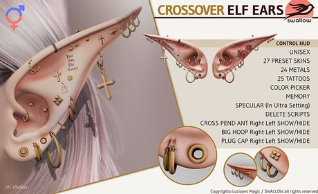 ^^Swallow^^ Crossover Elf Ears