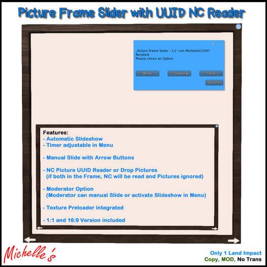 Picture Frame Slider with UUID NC Reader