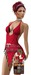 ALB DIAMOND beach dress red - SLink Maitreya Belleza