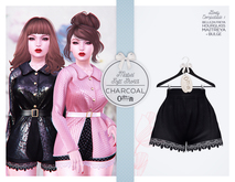The Secret Store - Mabel Soft Shorts - Maitreya Lara, Bulge, Belleza Freya, Slink Hourglass - Charcoal