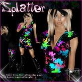 T-SQ~ Splatter Dress~ Rainbow