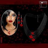 T-SQ~Triple Red Maple Autumn Necklace~