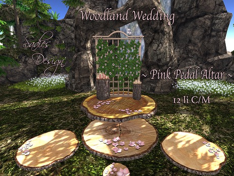 ~Sadie's Design~ Woodland Wedding Pink Pedal Bag UPDATED