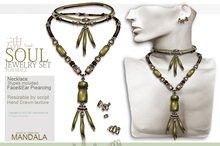 (70%OFF SALE)MALE[MANDALA] Soul Jewelry set (Green)