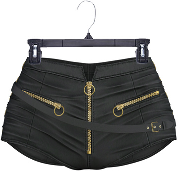 adorsy - Amaya Leather Shorts Black - Maitreya/Legacy