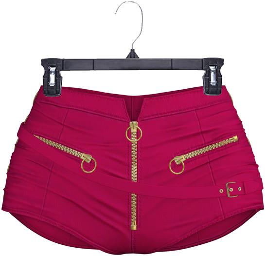 adorsy - Amaya Leather Shorts Raspberry - Maitreya/Legacy