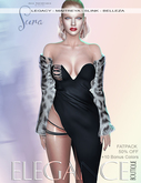 "Elegance Boutique -Dress - Black  -  ""Sura"" - Legacy - Maitreya /Slink / Belleza"
