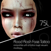 :Little Pricks: Road Rash  Face Tattoo
