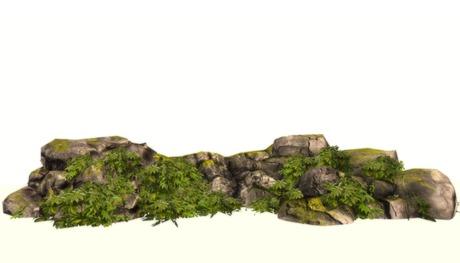 Jad Garden - rock border with bushes