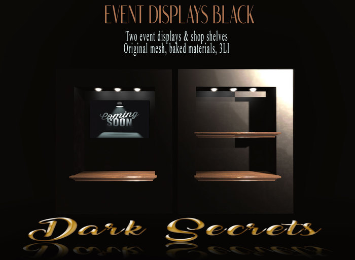 Dark Secrets - Event & Shop Displays Black
