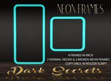 Dark Secrets - Neon Frames Baby Blue