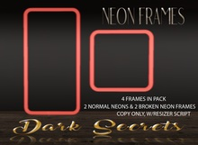 Dark Secrets - Neon Frames Red