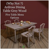 {Why Not ?} Ardross Dining Set Grey Wood-Boxed